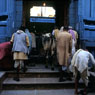 Paul Nevin Varanasi Travel Photo Devotees entering temple